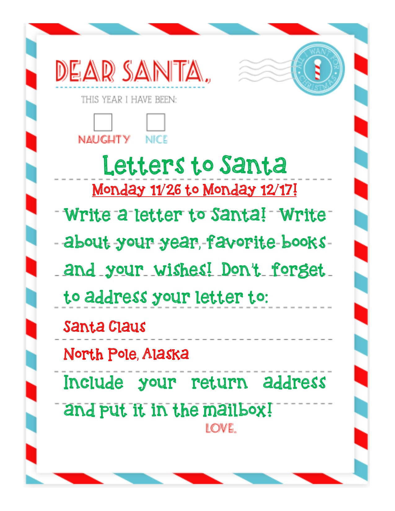 Letters to Santa 2018