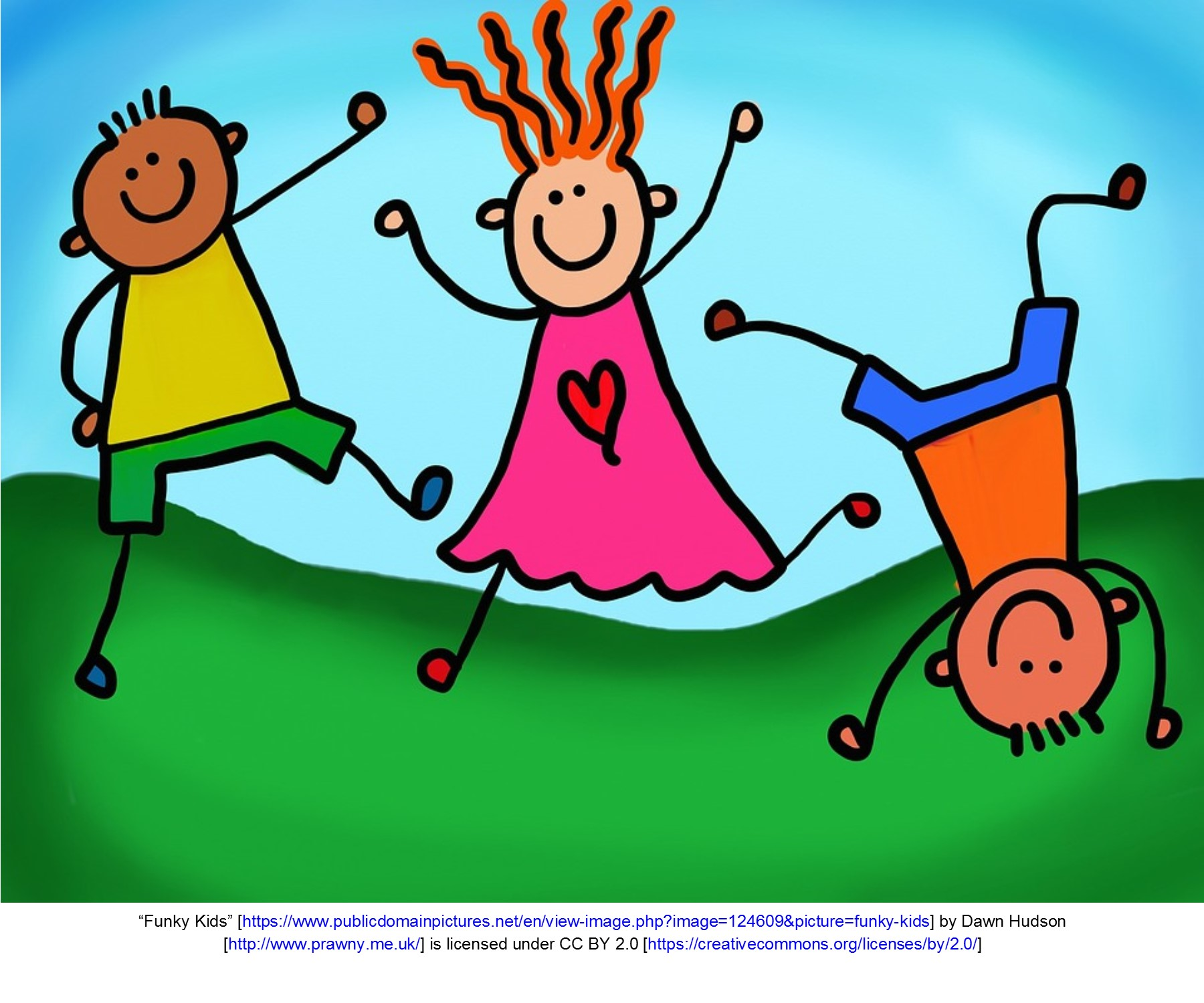Animated image of children playing