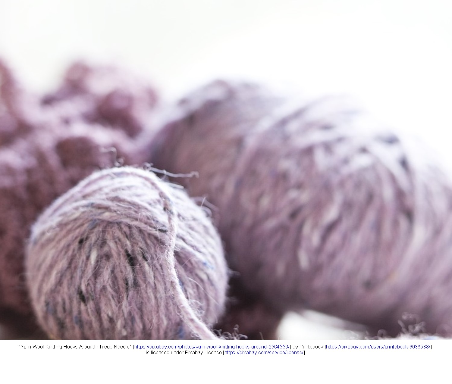 Yarn skein and ball