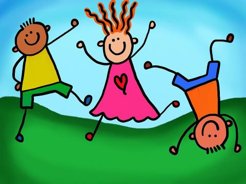 Animated drawings of children dancing