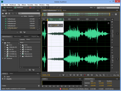 Screenshot of Adobe Audition